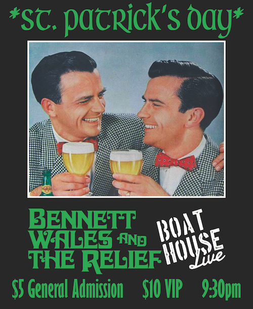Bennett Wales & the Relief performing at Boathouse Live in Newport News VA on March 17, 2018