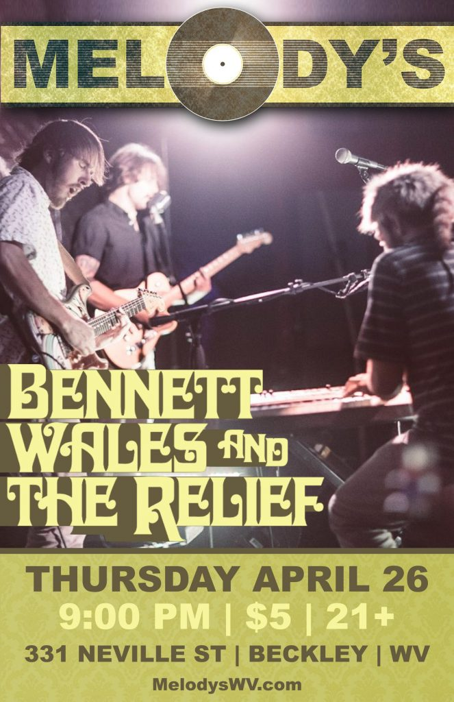 Bennett Wales & the Relief at Melody's in Beckley, West Virginia
