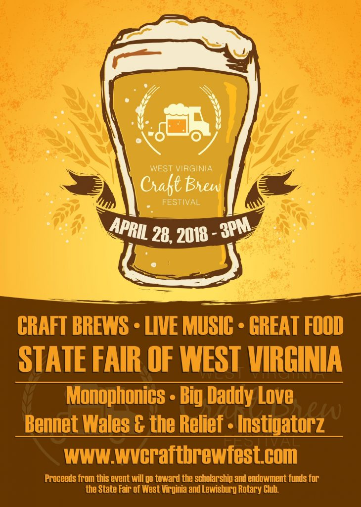 West Virginia Craft Brew Festival featuring Bennett Wales and the Relief in Lewisburg, WV