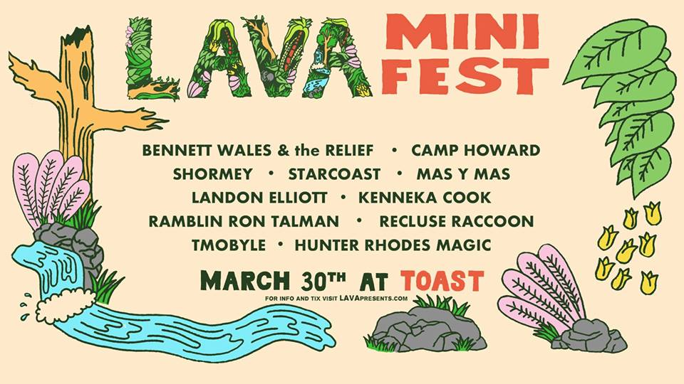 Bennett Wales & the Relief will be headlining the first LAVA MiniFest of 2019